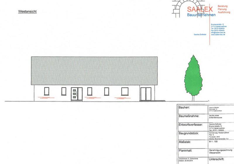 Bauunternehmen Minden geplanter neubau einfamilienhaus bungalow saalex bauunternehmen für niedernwöhren